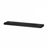 ЛАКК Полка навесная, черно-коричневый, 110x26 см
